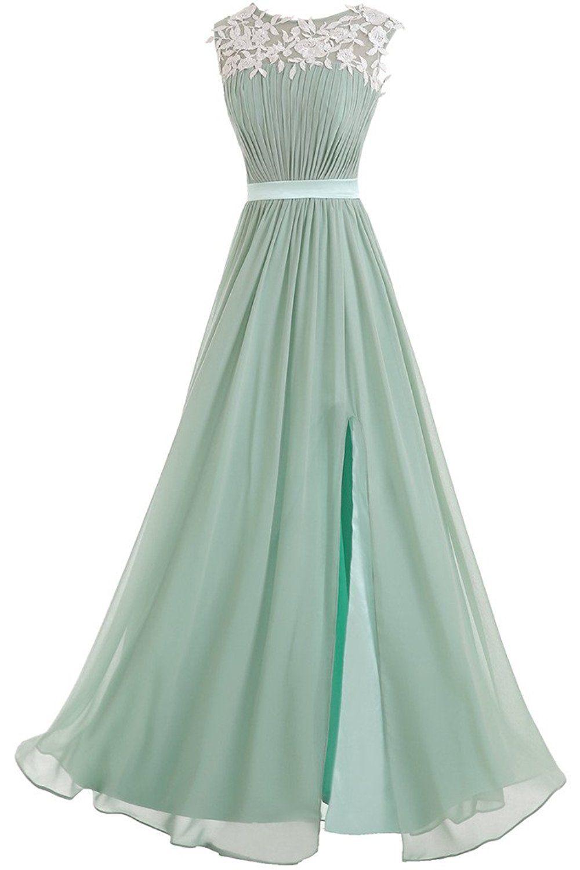 Victory Bridal Elegant Spitze Damen Lang Abendkleider Festliche