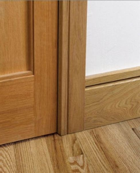 Shaker style skirting board and door architrave skirting for Hardwood skirting
