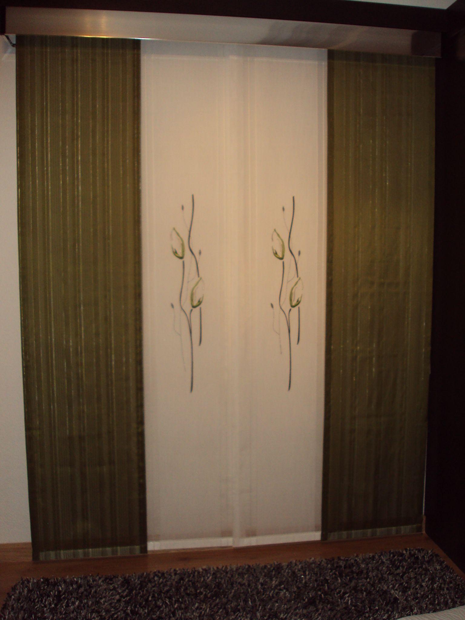 Japanese panel curtains - Panel Japones De Cuatro Vias Con Galeria De Aluminio Panelaluminumcurtains