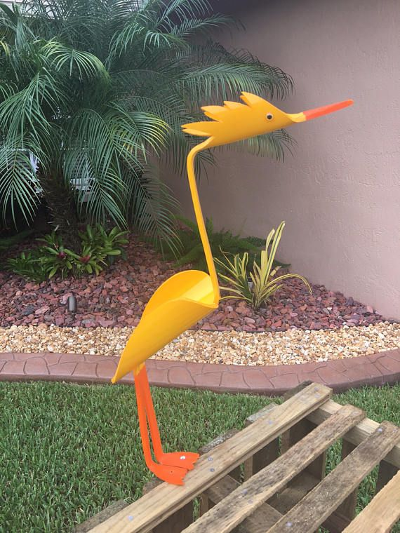 Yellow Bird Patio Decoration Garden Decoration Outdoor With Images Garden Decor Projects Decorative Bird Houses Decorative Items