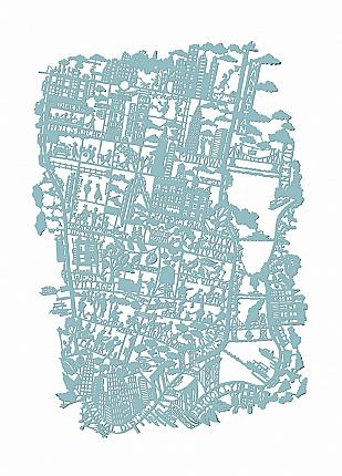 New York City Paper Cut Map Print