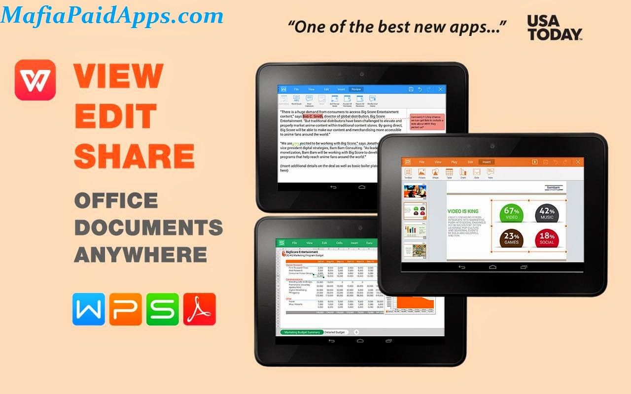 Wps Office V9 9 1 Apk Featured As Best Office App For