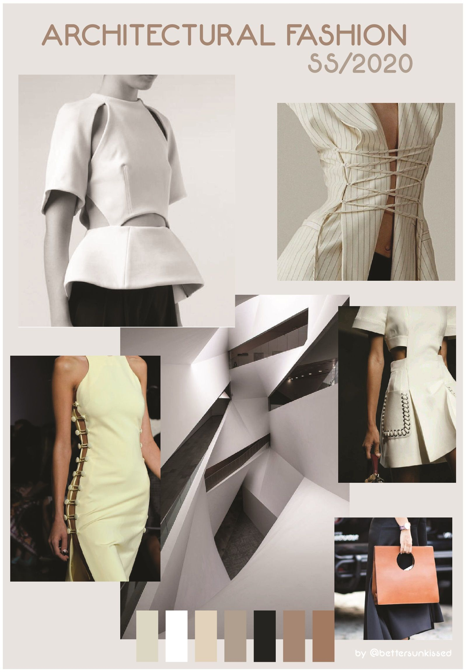 COLOR TREND FORECAST SS/2020  SPRING SUMMER 2020 ARCHITECTURAL FASHION