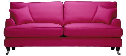 Sofa Work Florence Large Covered In Vogue Hot Pink