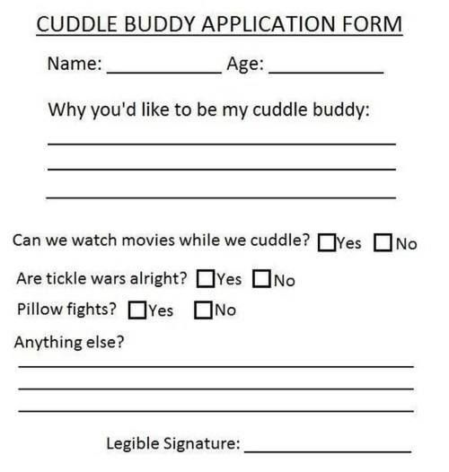 Farewell Letter From  Cuddling Boyfriend Application And Humor