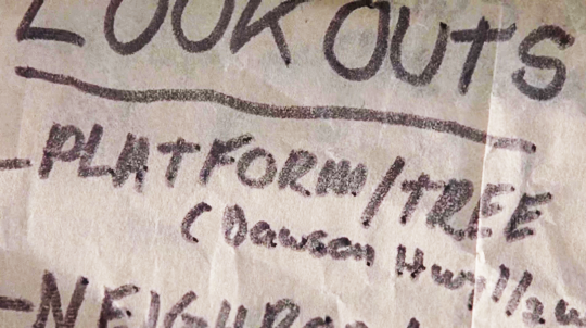 Rick's list of where the look-outs are; S8; ...