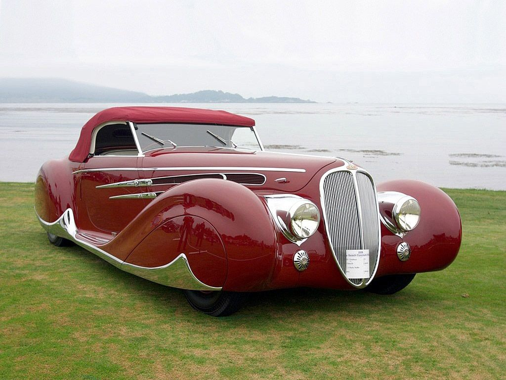 Iconic Classic Car 1939 Delahaye 165 V 12 Cabriolet At Mullin