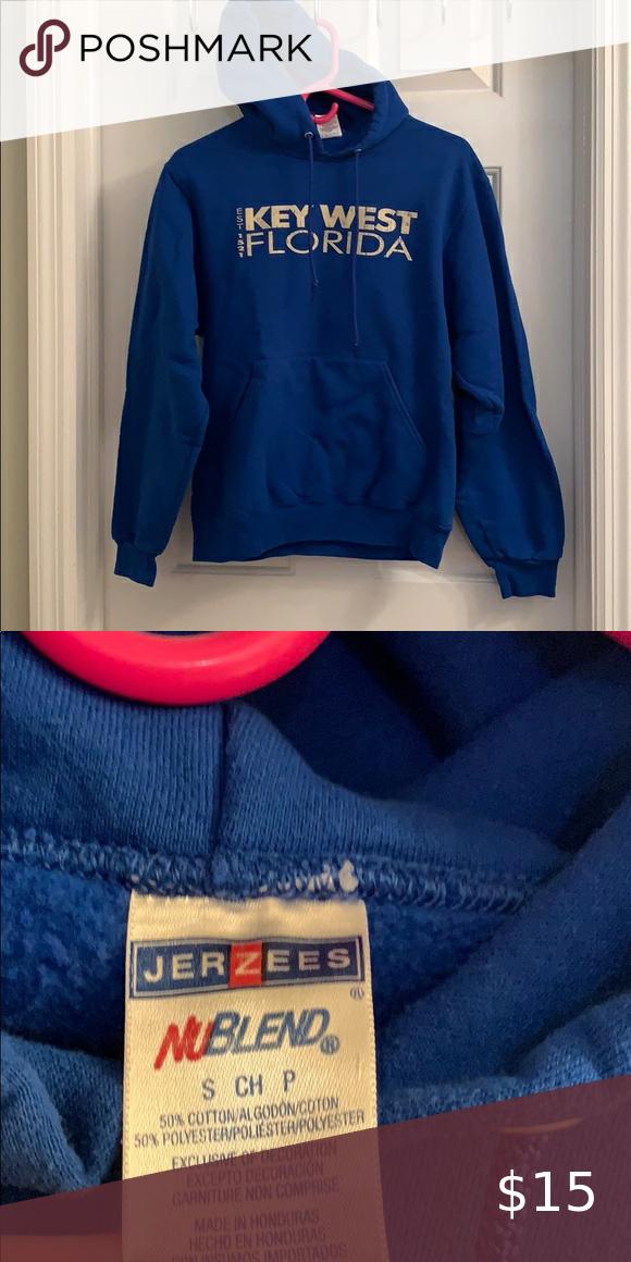 Key West Florida Blue Hoodiesweatshirt Sweatshirt Tops Blue Hoodie Sweatshirts Hoodie