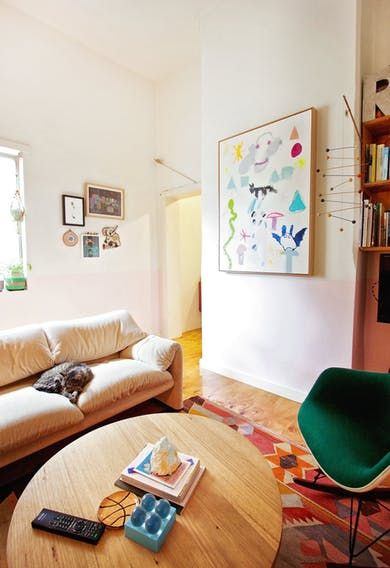 Beci  Raph\u0027s Art-Filled Home in Australia House tours, Interiors