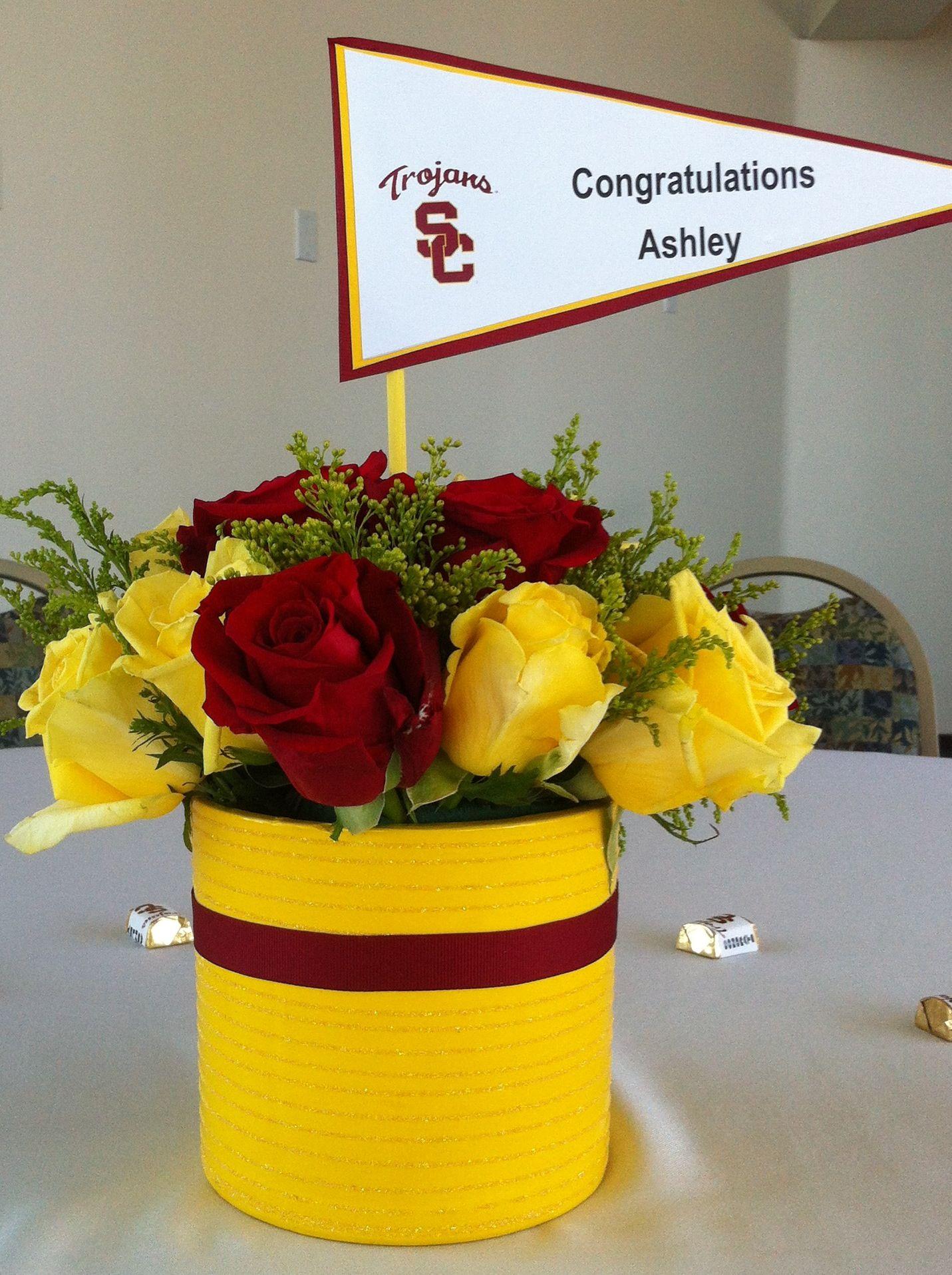 Usc graduation centerpiece crafts pinterest