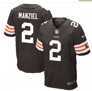 367b1412e3e Cleveland Browns #2 Johnny Manziel NFL Elite Brown Jersey ...
