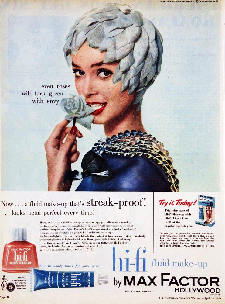 Max Factor makeup, 1959 (con imágenes)