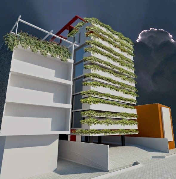 livin' spaces: CONCRETE ROSE: The Green Wall, Lagos by Hubcity Te...