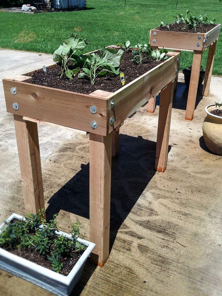 Diy Raised Bed Planter Small Spaces Raised Planter