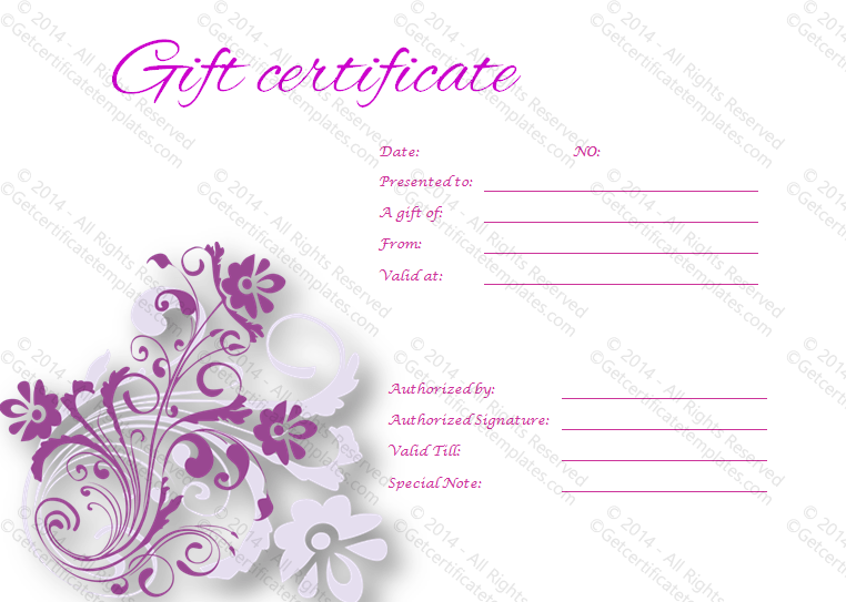 Free Gift Certificate Templates  Save Word Templates