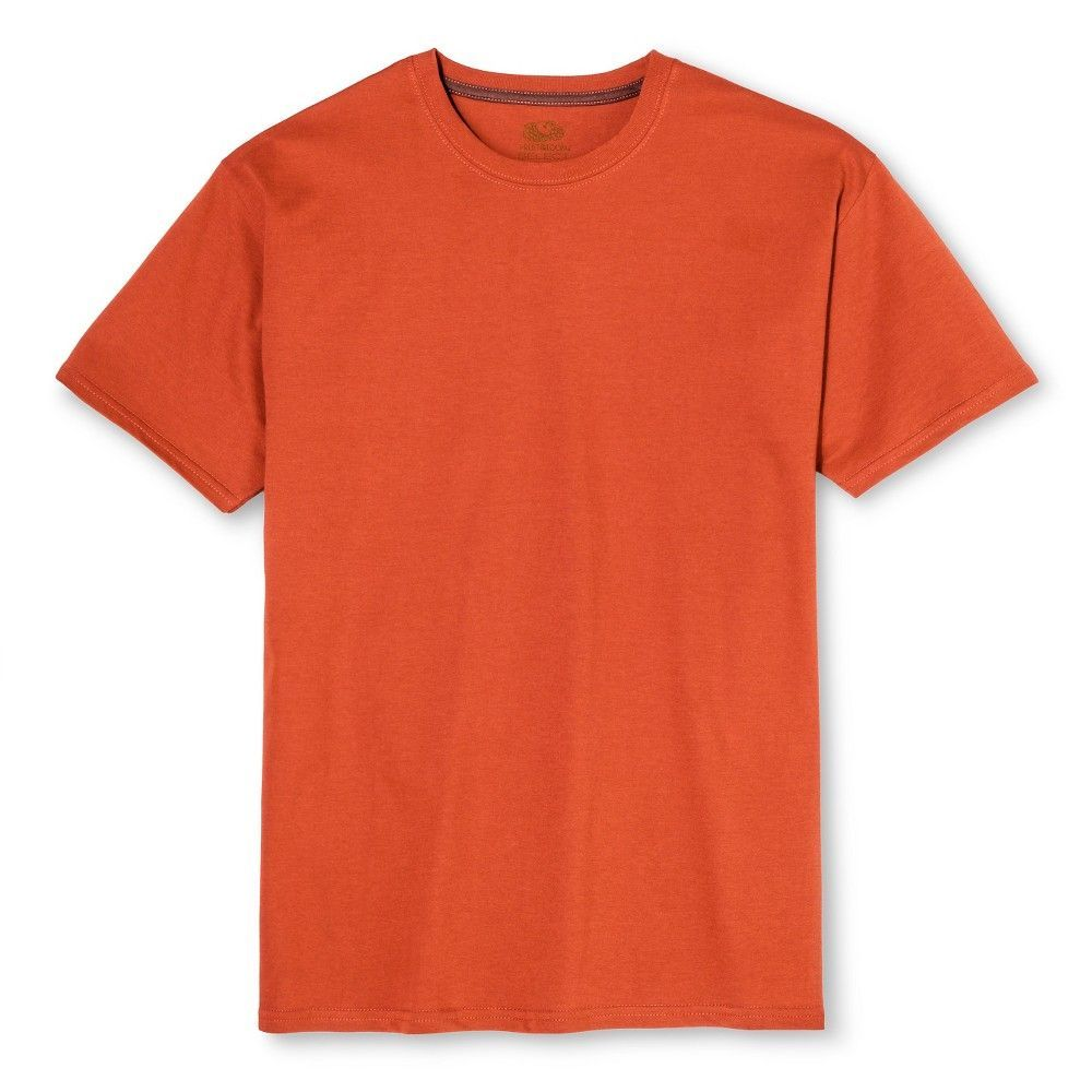 1e288b221 Fruit of the Loom Select Men's Short Sleeve T-Shirt - Rugby Orange, Size:  Small