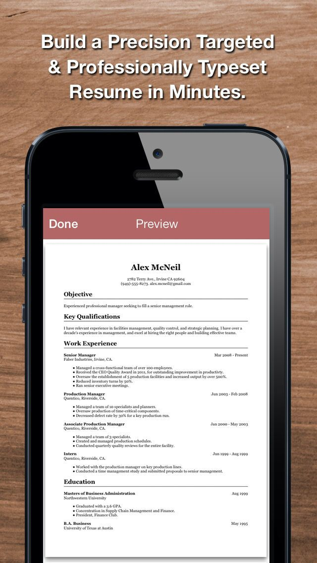Free resume builder PDF formats CV maker templates Android