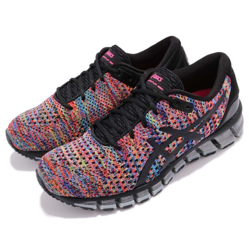 860dd9bbd8b Asics Gel-Quantum 360 Knit 2 II Rainbow Multi Black Women Running  T890N-9000 S N  T890N9000 Color  BLACK RAINBOW MULTI BLACK Made In  Vietnam  Condition  ...