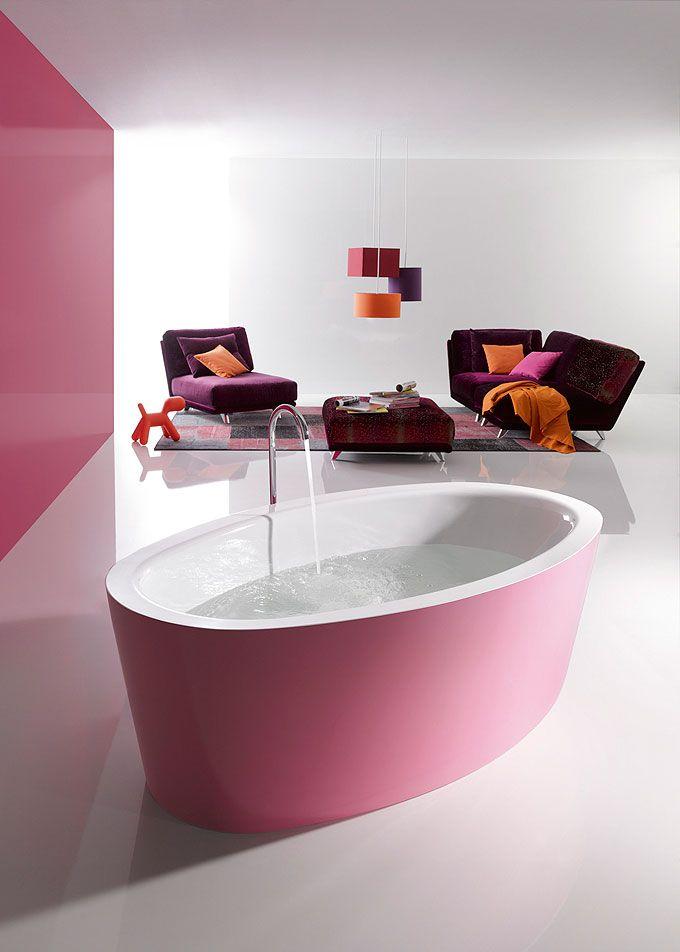 Une jolie baignoire rose bonbon... À croquer ! | Les baignoires ...