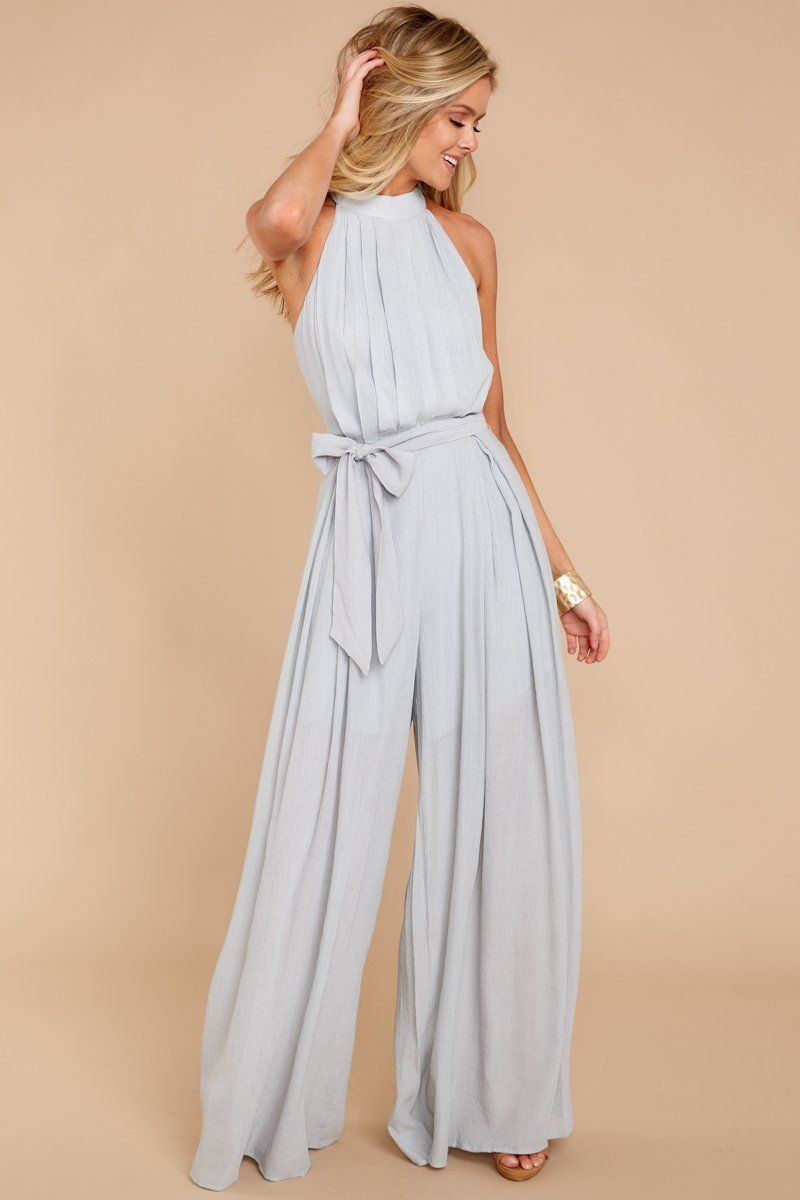 5c339a05e785 Chic Grey Jumpsuit - Cute Jumpsuit - Jumpsuit -  52.00 – Red Dress Boutique