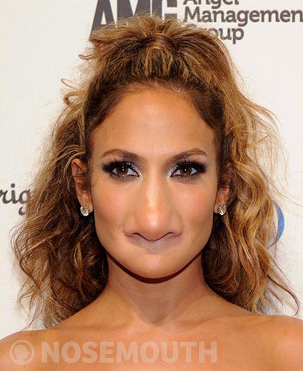 Jennifer Lopez Nosemouthed Nosemouth Photoshop Photomanipulation Funny Jenniferlopez Coiffure Cheveux Long Facile Coiffure Facile Cheveux Long