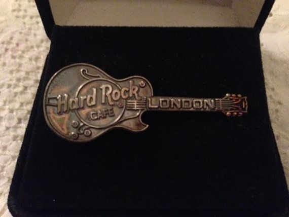 Hard Rock Cafe London Electric Guitar Pin by MoonlightandMagic