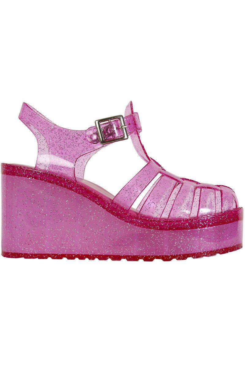 f386f1dba7f8 Melody Glitter Platform Jelly Sandal - Pink