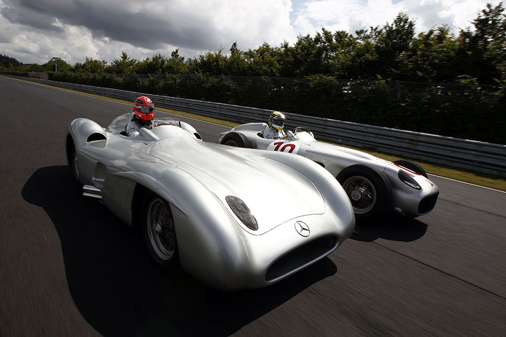 Nico and Schumi Go Old-School in Vintage F1 Cars | F1, Cars and Benz