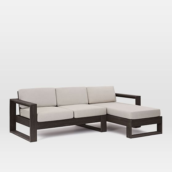 Portside Sectional, Right Chaise, Left Sofa, Weathered Cafe ...