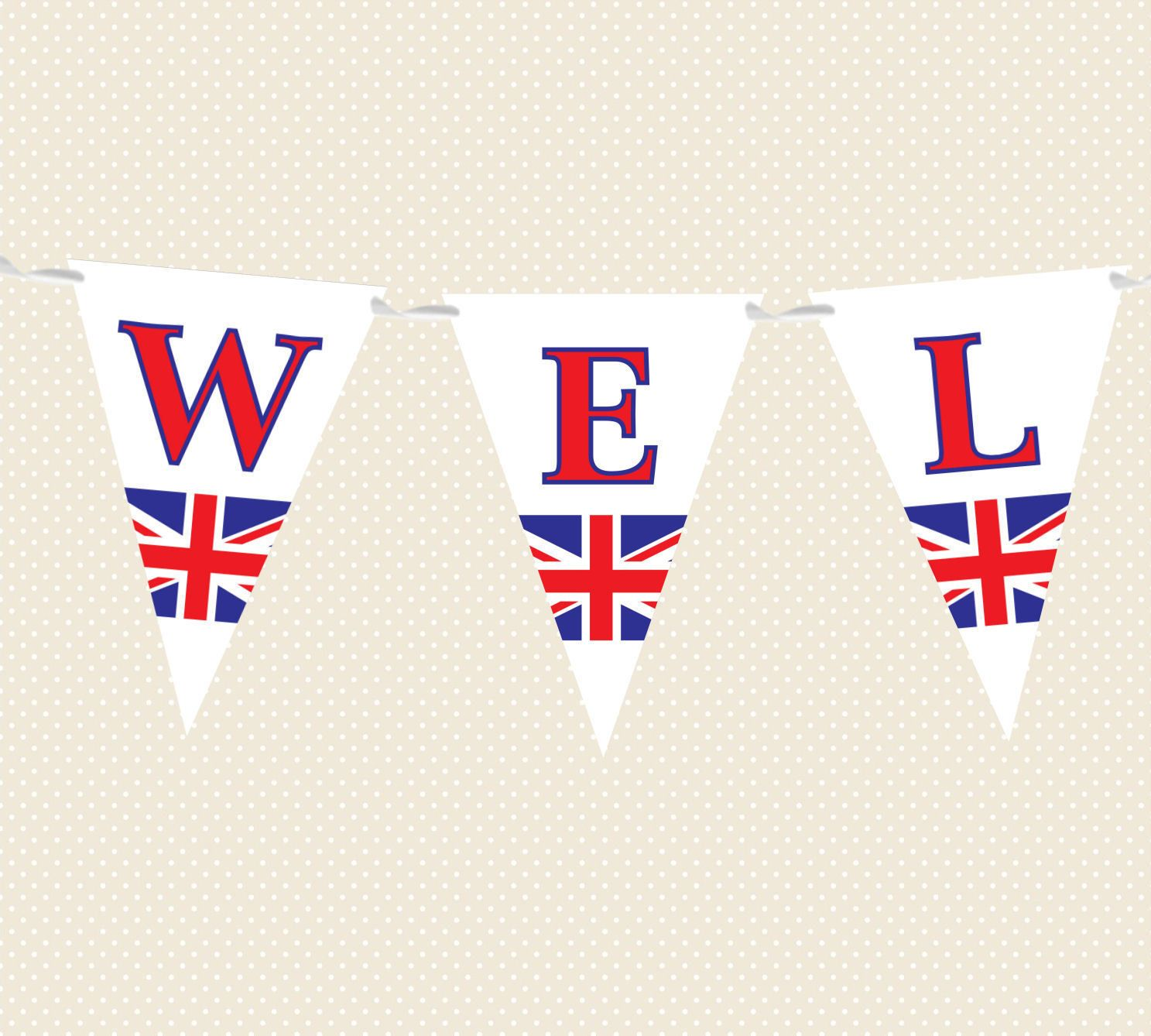 4.95 GBP - Welcome Home Bunting - Union Jack - Banner Party ...
