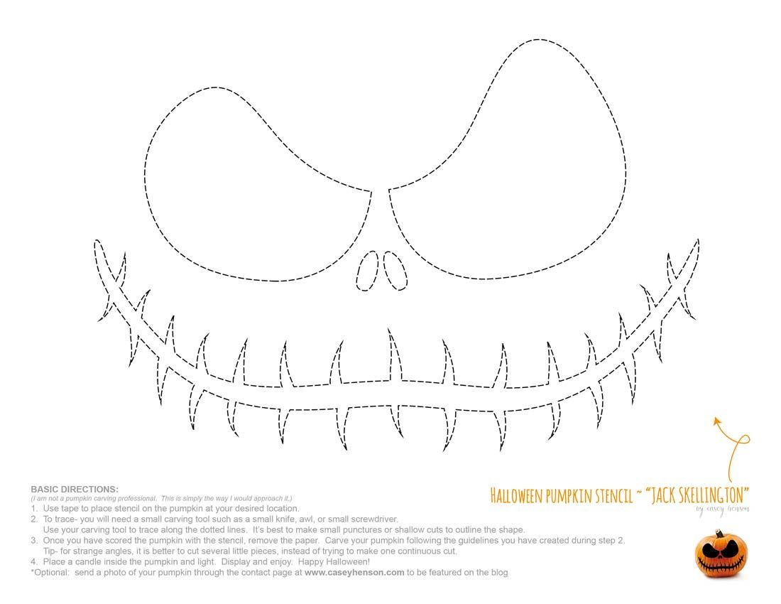 jack the pumpkin king stencil | Jack Nightmare Before Christmas ...