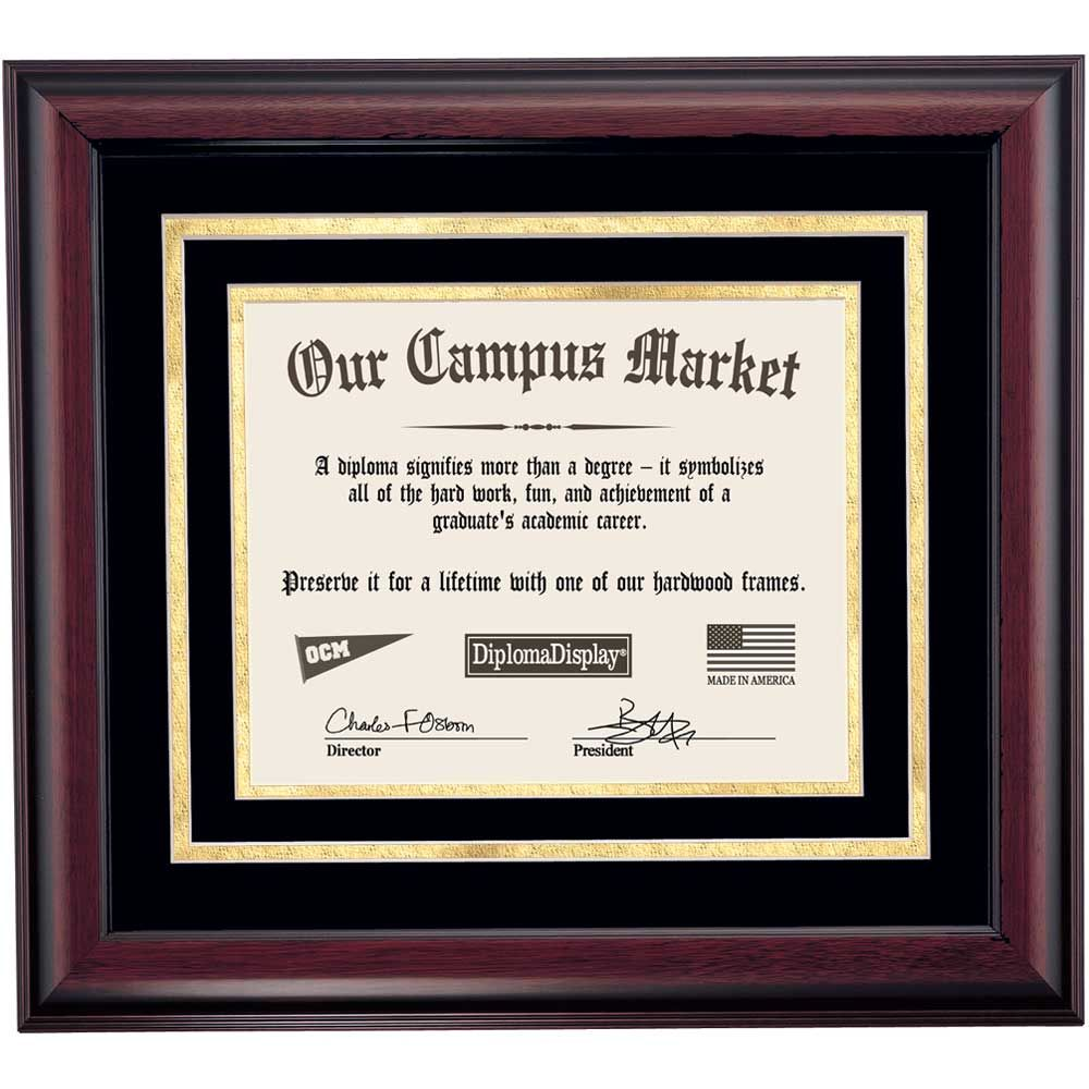 Heritage Frame with Black and Gold Matting for 8 x 10 Diploma ...