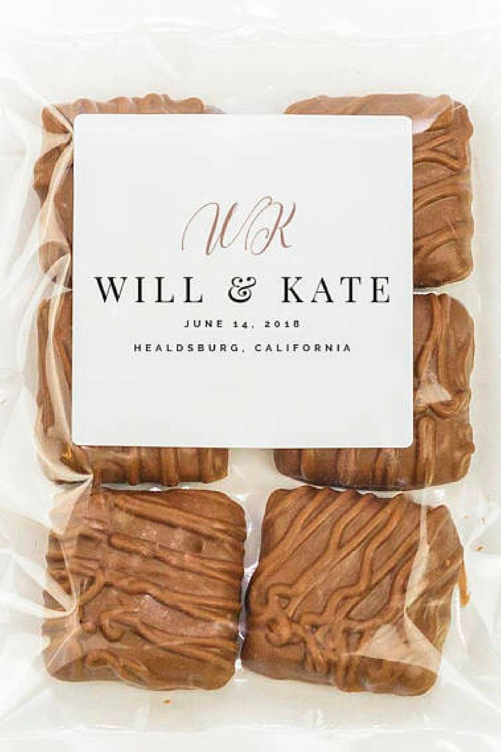 Personalized Wedding Favors - Chocolate Almond Toffee, Candy Wedding ...