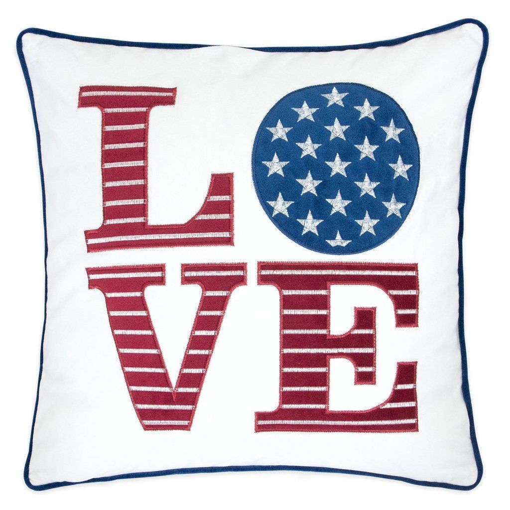 Usa Velvet Applique Embroidered 20 X 20 14 X 20 Throw Pillows In 2020 Decorative Throw Pillows Velvet Throw Pillows Accent Pillow Sets