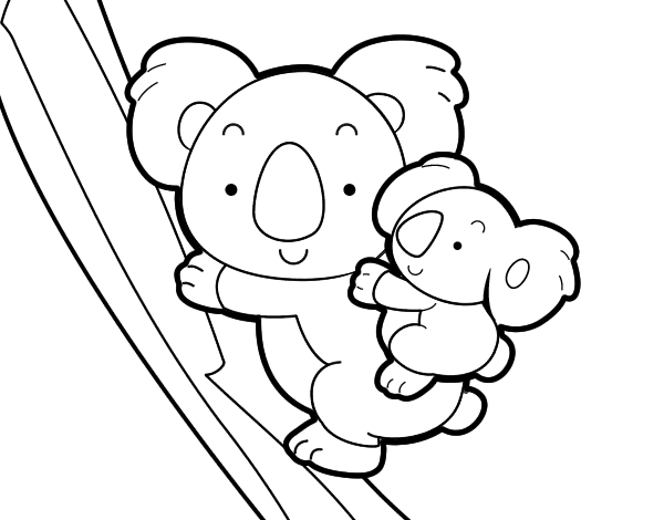 Dibujo De Madre Koala Para Colorear Flowers For Daily Life