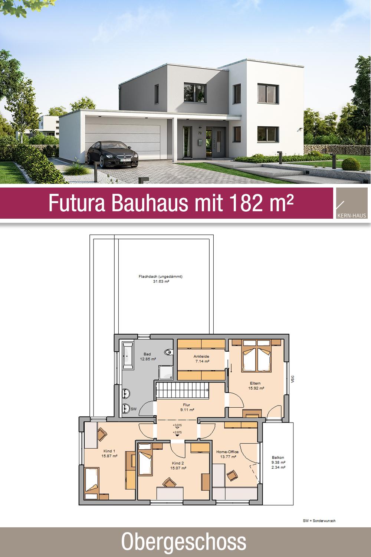 Bauhaus Grundriss 182 m² 6 Zimmer Obergeschoss