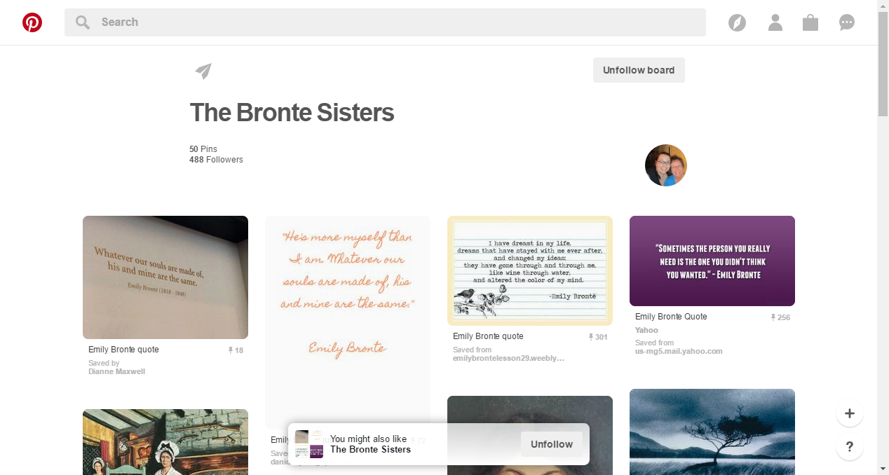 Pinterest • The world's catalog of ideas | Bronte sisters, Unfollow boards,  Jane eyre