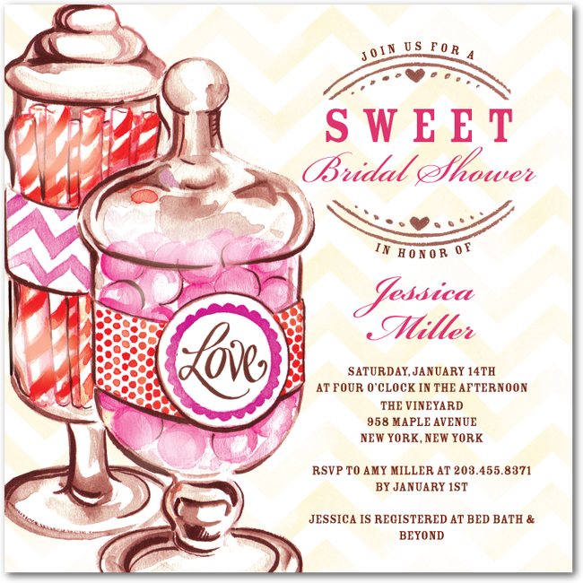 A Candy Themed Bridal Showerinvitation From Wedding Paper Divas