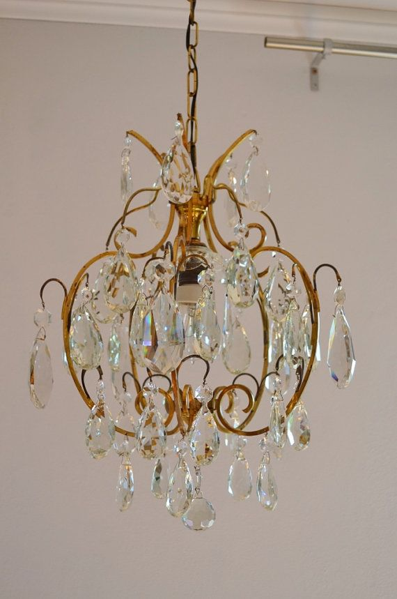Crystal Chandelier Old Ceiling Pendant Lamp By Vintageofitaly Shabby Chic Homes Pendant Ceiling Lamp Shabby Chic Decor