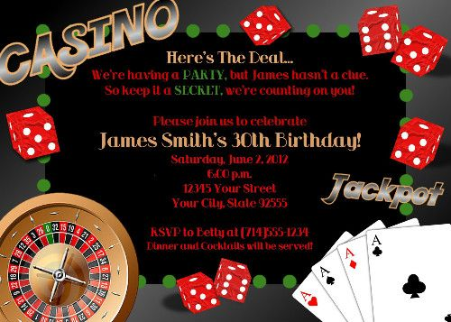 Heres the deal or Youve been dealt an invitation Were having – Casino Royale Party Invitations