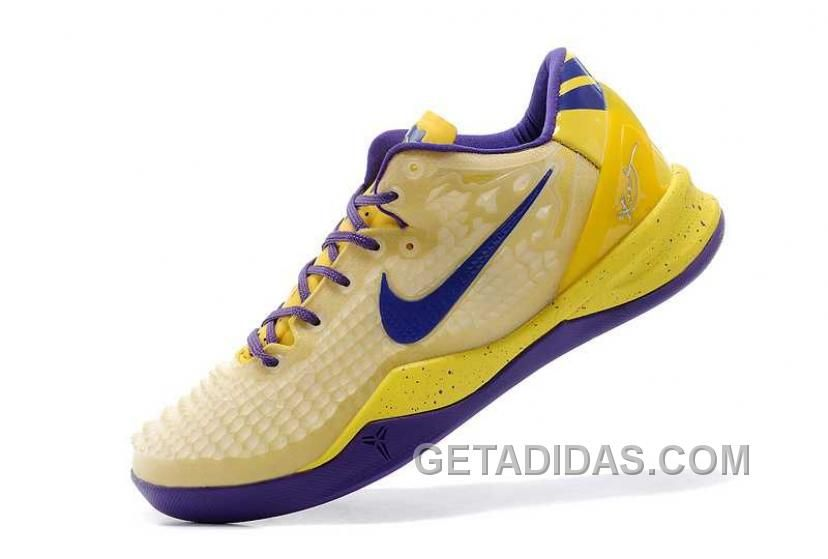 low priced 69b30 db1cc Nike Kobe 8 System Ss Mens Yellow Purple Beige Authentic, Price   119.00 -  Adidas Shoes,Adidas Nmd,Superstar,Originals