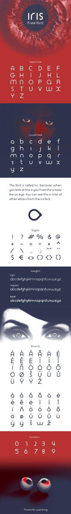 Iris font | 3 weights on Behance