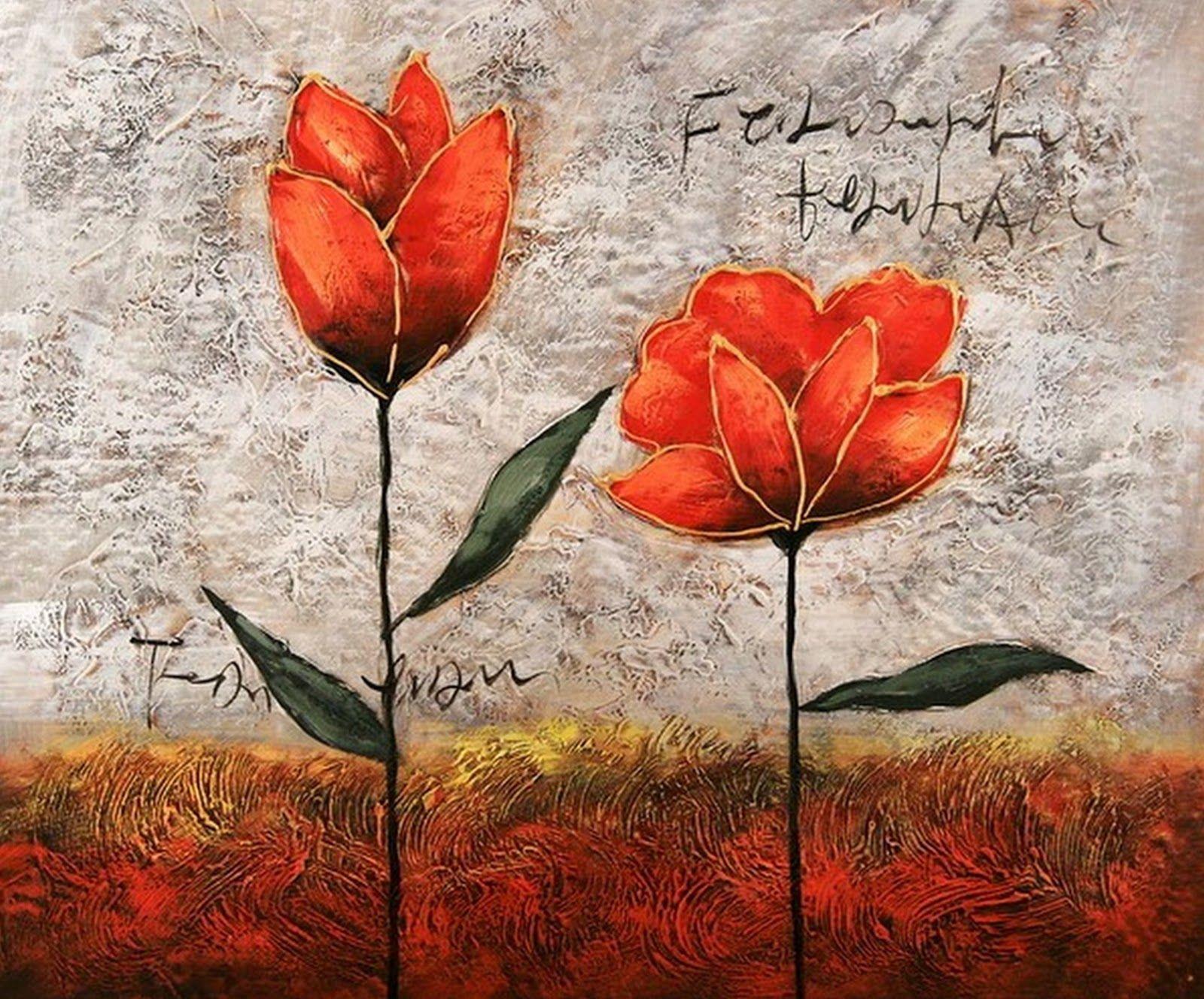 Arte Abstracto Con Rosas Arte Abstracto Abstracto Pinturas