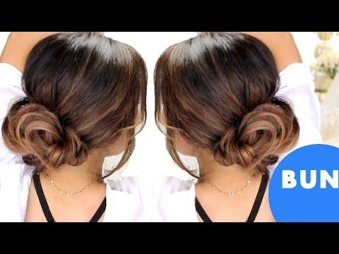 Fake Bangs Hairstyle Beauteous ☆Hair Tutorial How To Fake Bangs With Bun  Top Knot Hairstyles