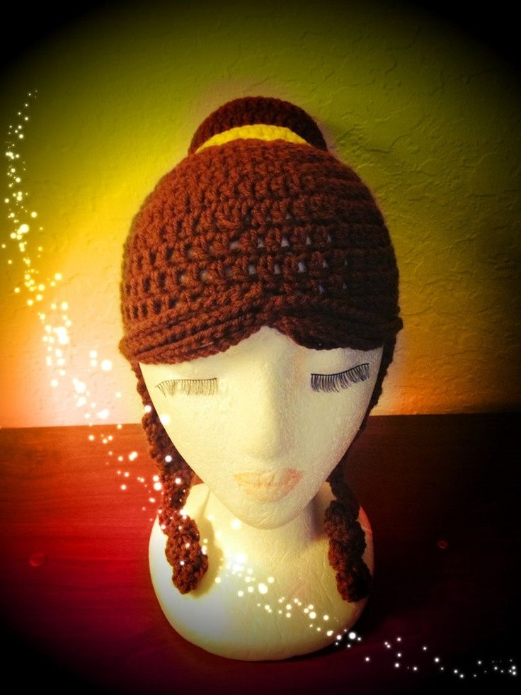 Crocheted Disney Princess Hat Patterns Disney Princess Belle