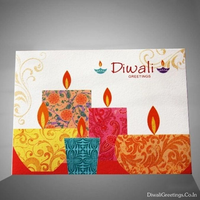 Simple Card Making Ideas Free Part - 37: Simple U0026 Easy Diwali Homemade Greeting Card Designs Idea 2015, Make  Decorative Handmade Diwali Cards