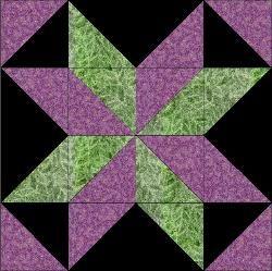 Starflower Quilt Block | Quilting | Pinterest | Half square ... : star flower quilt block pattern - Adamdwight.com