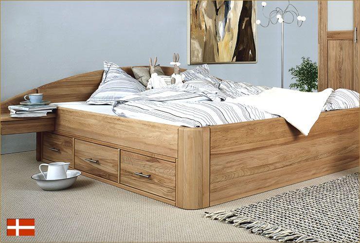 holzbetten massivholz jabo massive holzbetten massive betten mit schubladen schlafzimmer - Bett Backboard Ideen