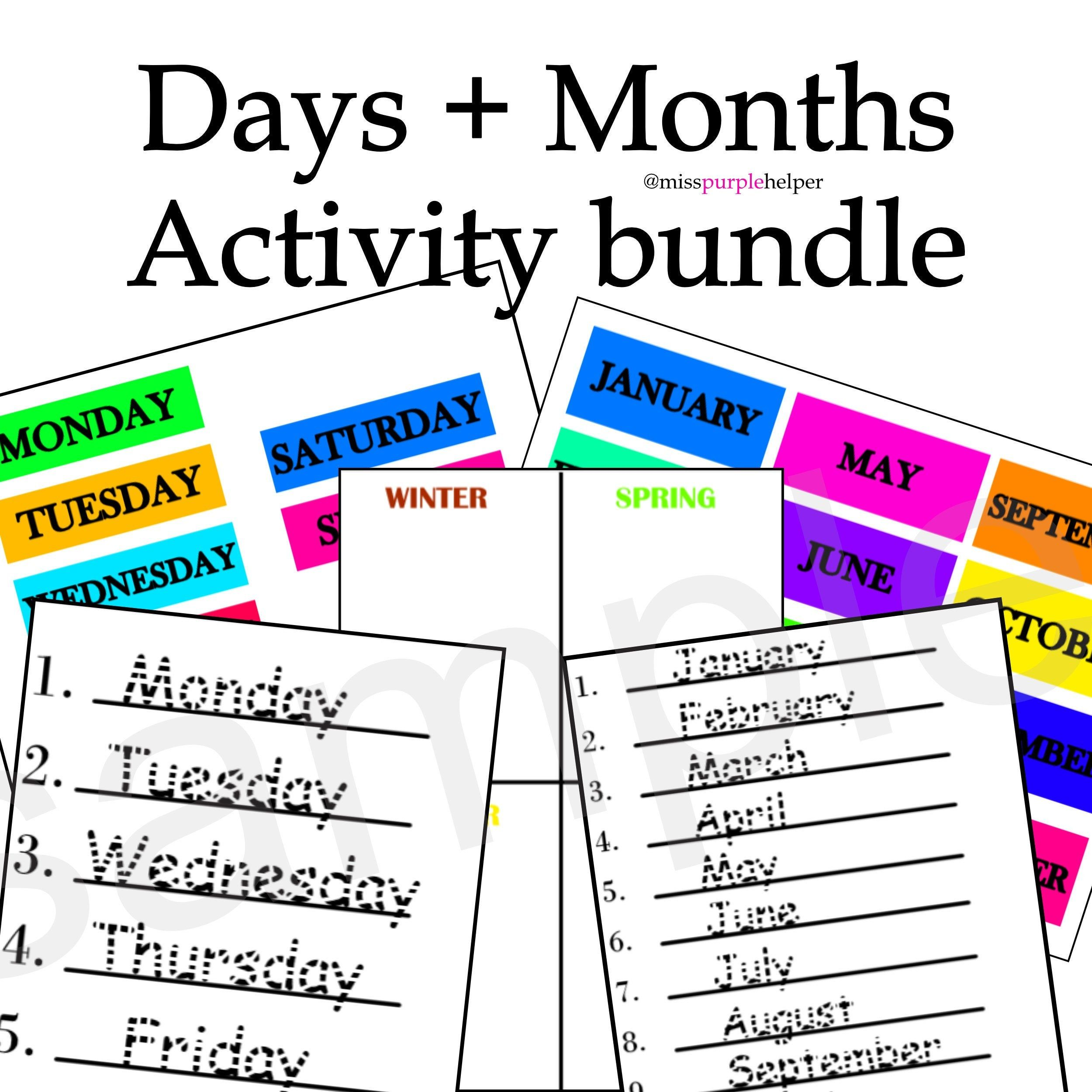 27 Worksheets Days And Seasons Pretty Worksheets