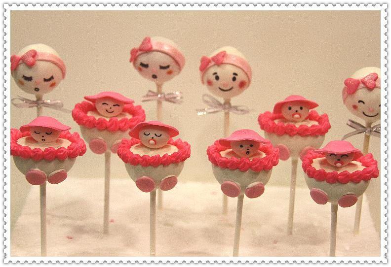 baby shower cake pops girl